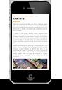portfolio sur iphone pour artiste